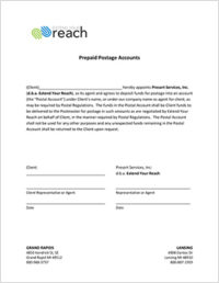 Postage Agreement 272x351