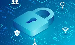 digital lock representing data security