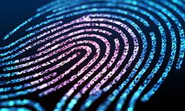 fingerprint representing employee screening